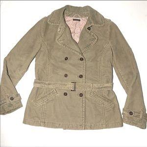 Sisley Tan Camel Corduroy Coat